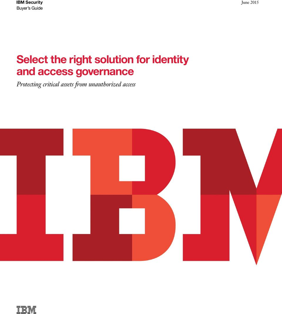 identity and access governance