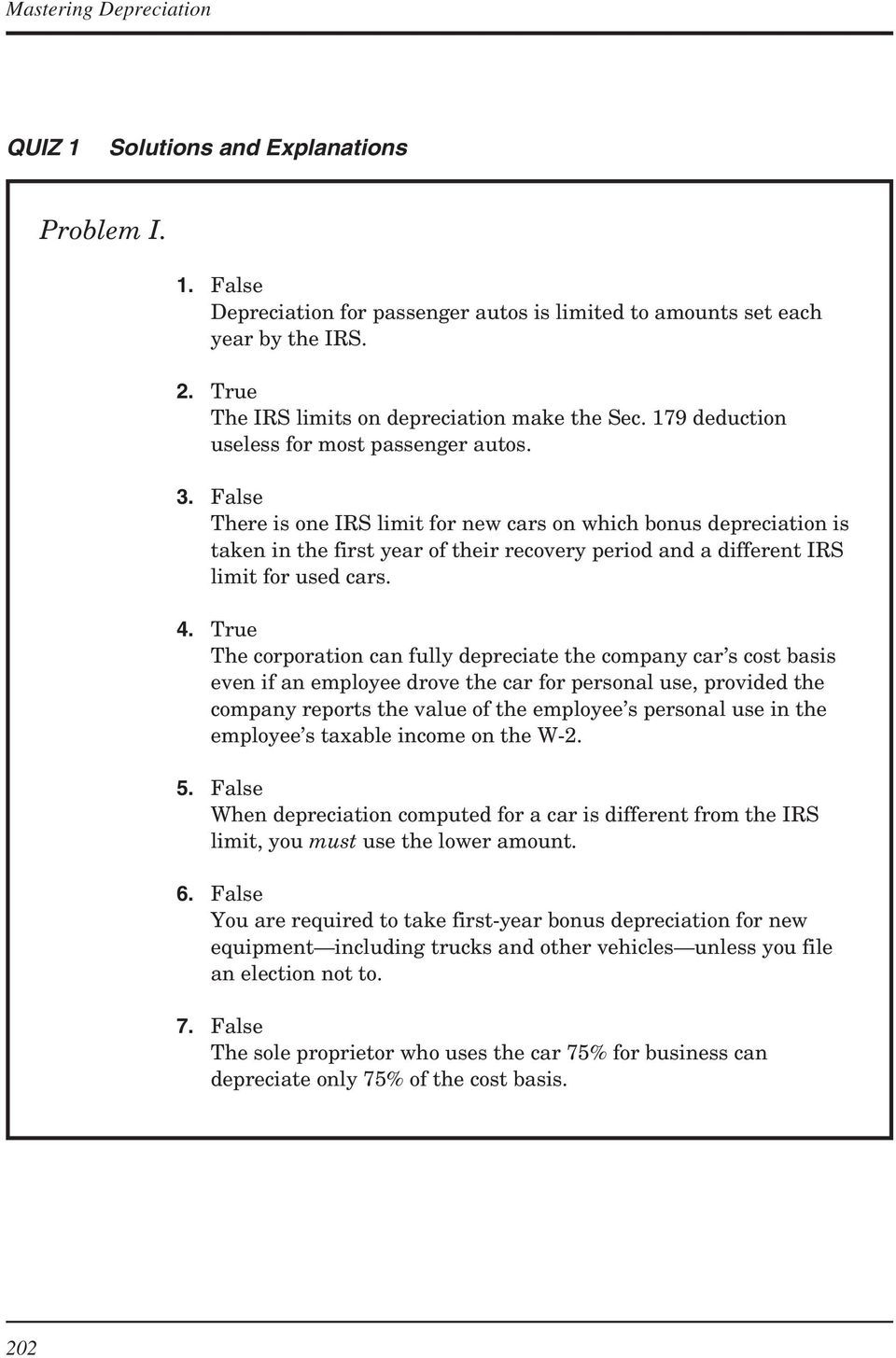 TAX DEPRECIATION OF VEHICLES - PDF