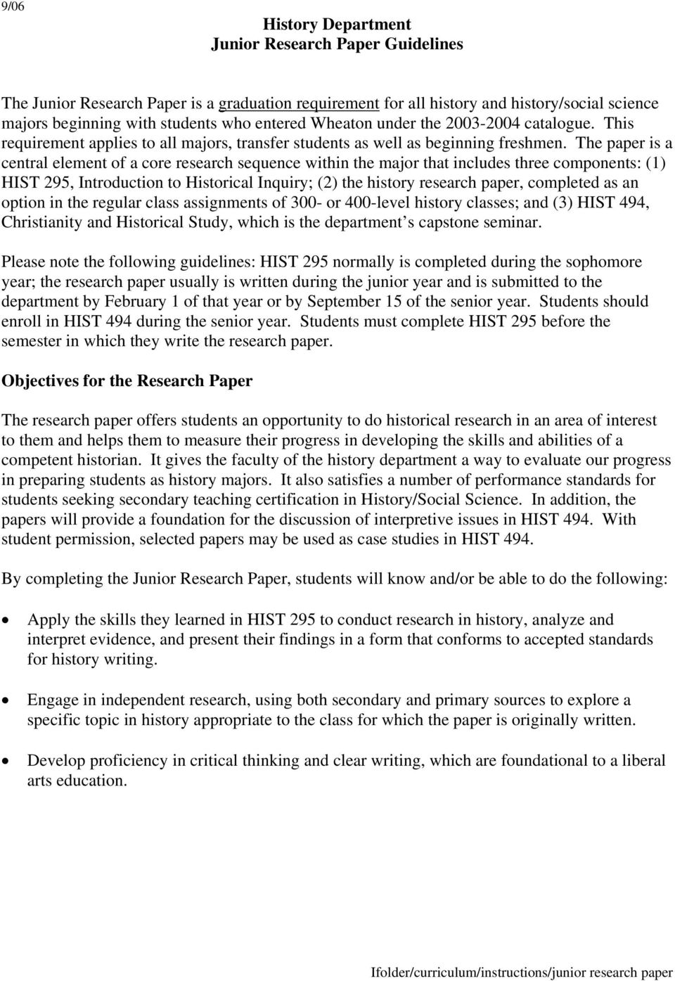 research papers examples