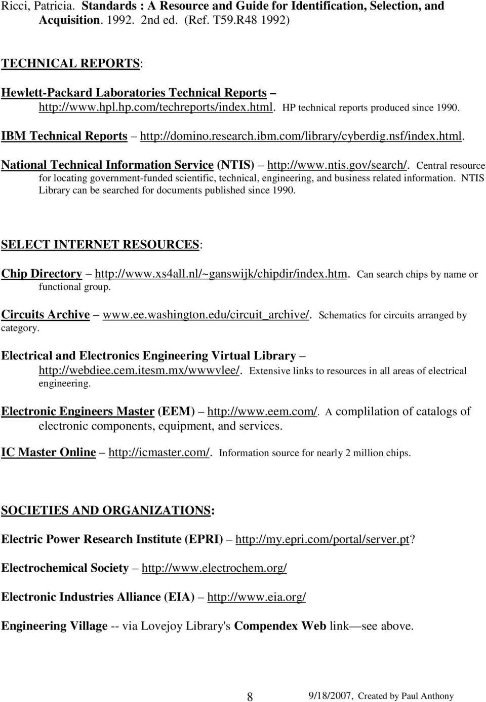 Library And Information Resources In Electrical Engineering Pdf Categories Electronics Circuits Researchibmcom Cyberdignsf Indexhtml 9 Institute Of Engineers