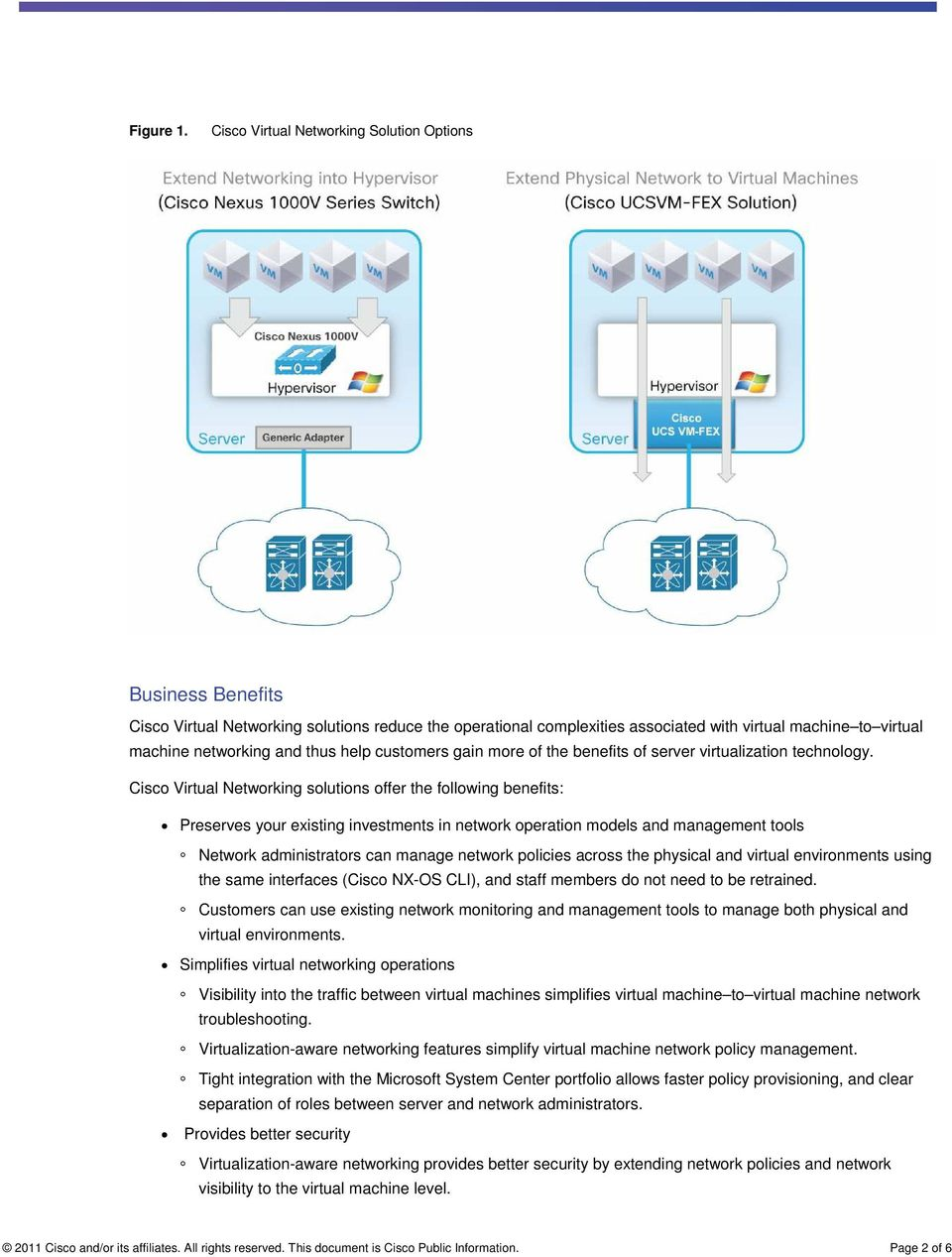 Business Benefits  Cisco Virtual Networking solutions offer
