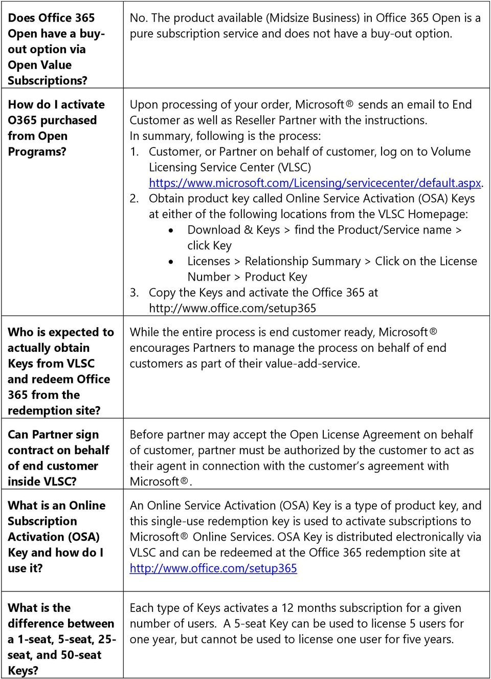 activate office 365 license from vlsc