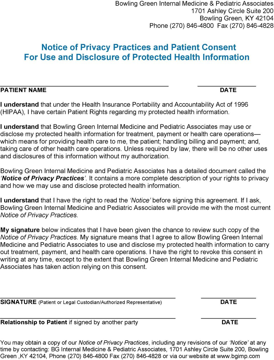 regarding my protected health information.