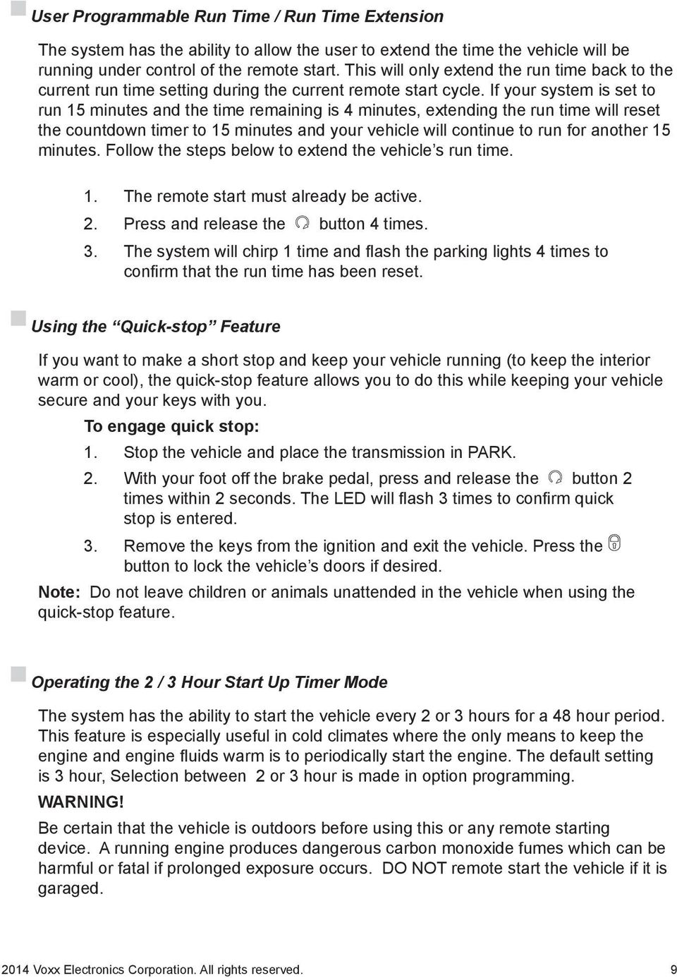 Owner S Guide Ca Pdf Three Hour Timer If Your System Is Set To Run 15 Minutes And The Time Remaining 4
