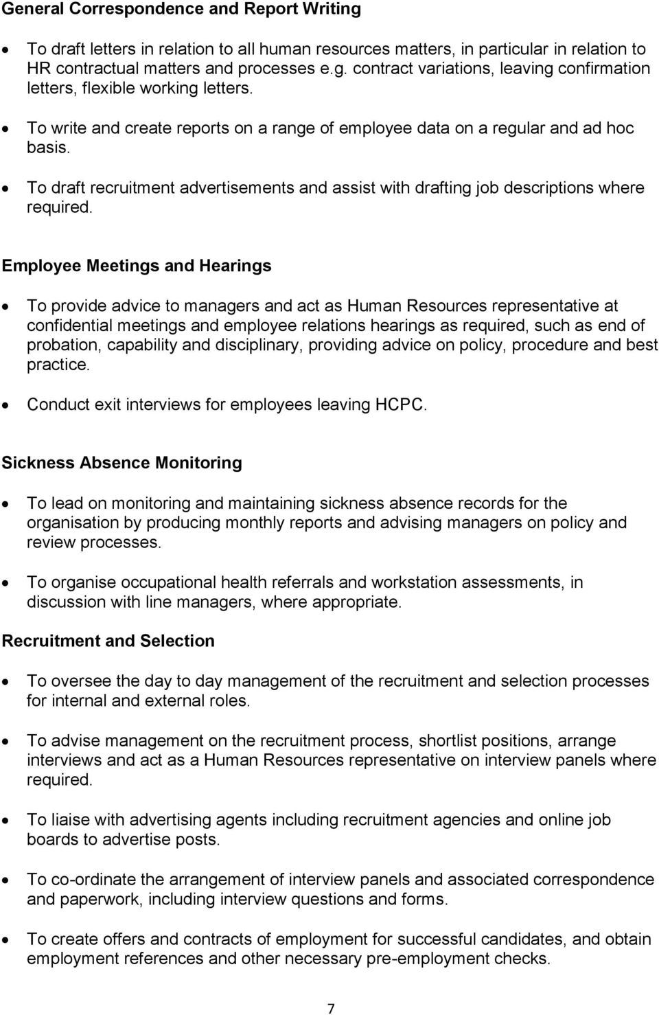 Human Resources Advisor 12 month fixed term contract - PDF