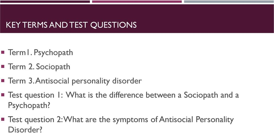 Psychopath Test Questions >> Antisocial Personality Disorder By Mackenzie Pdf