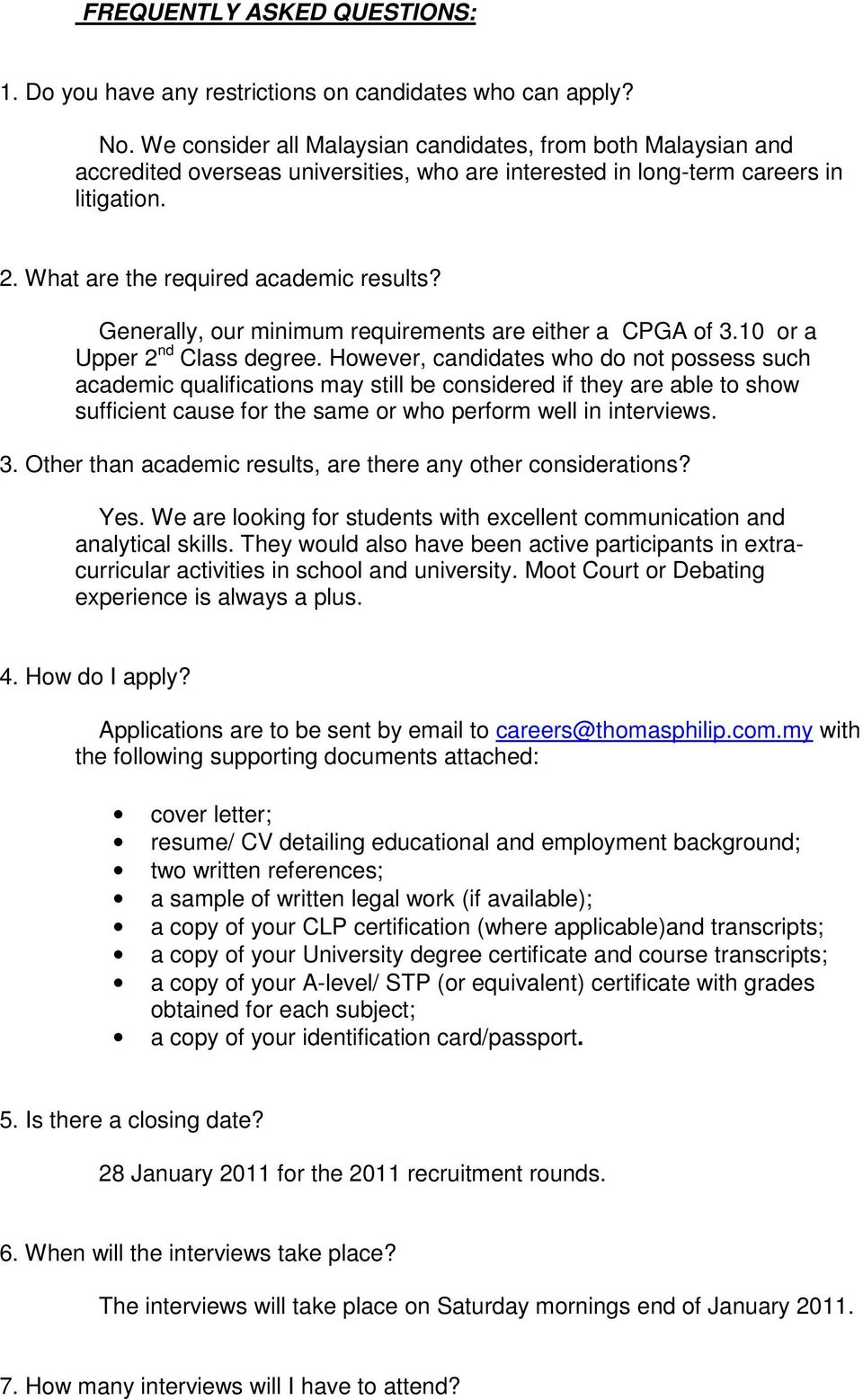 sample cover letter for chambering student malaysia