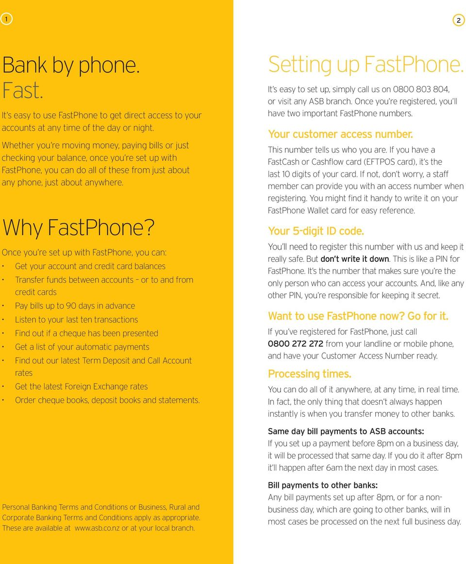 FastPhone User Guide  Banking at your finger tips  - PDF