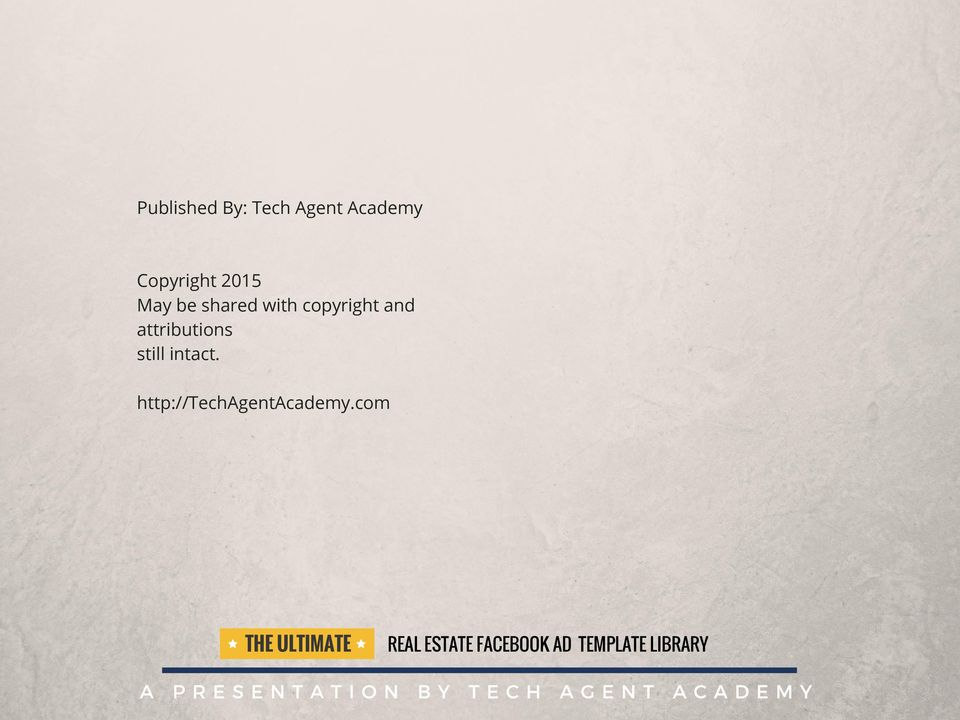 The Ultimate Real Estate Facebook Ad Template Library Pdf
