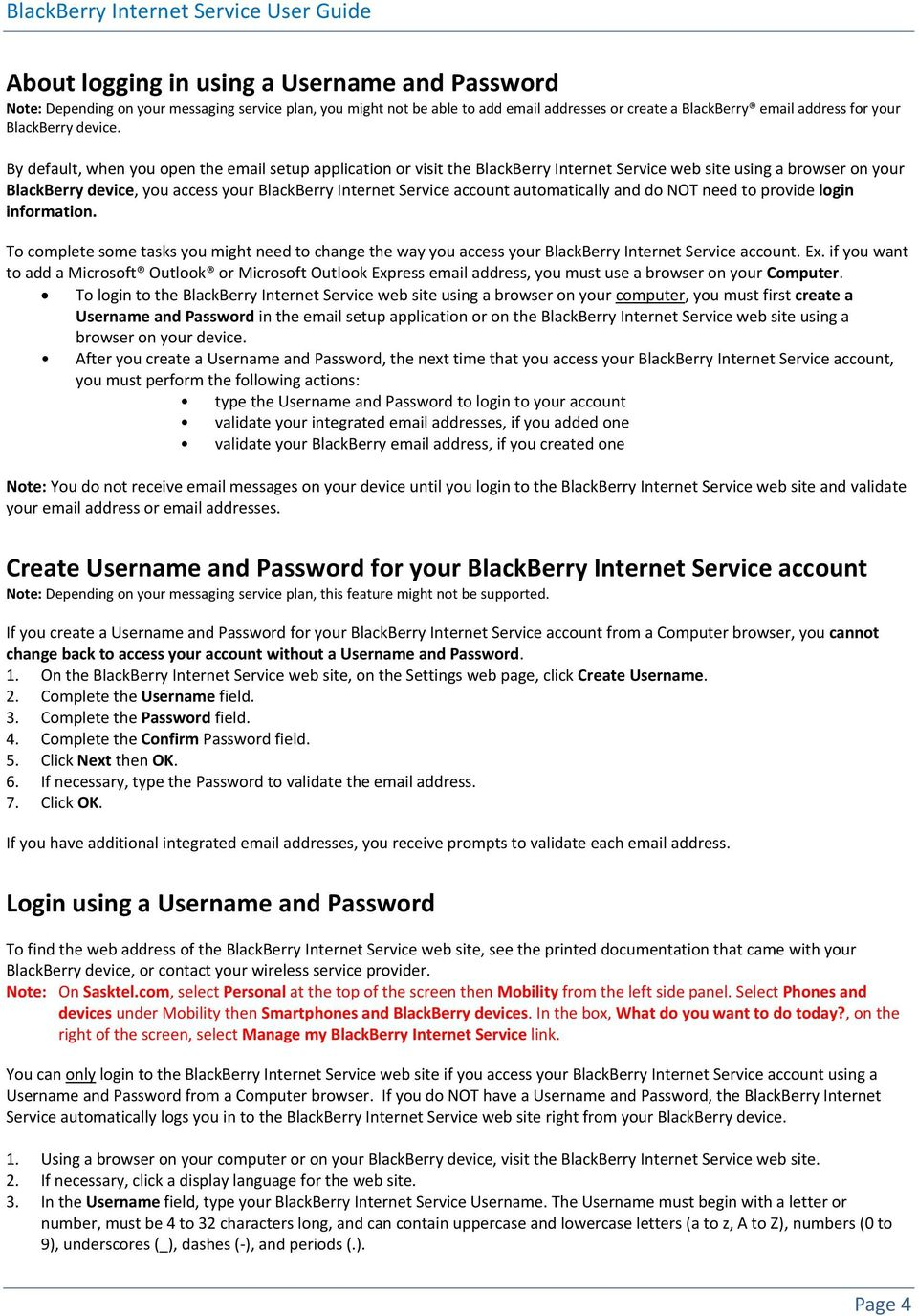 BlackBerry Internet Service Using the Browser on Your BlackBerry