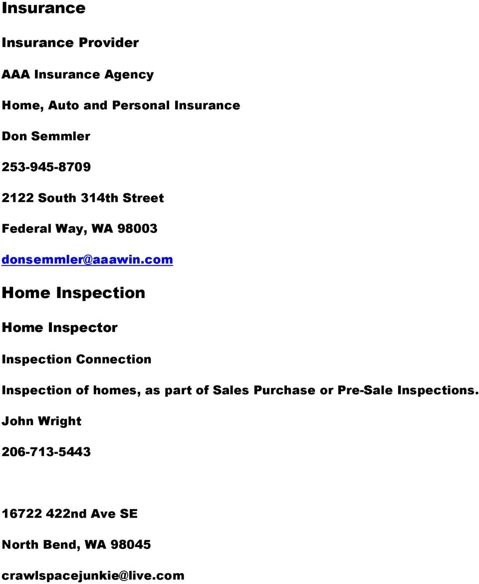 com Home Inspection Home Inspector Inspection Connection Inspection of homes, as part of Sales