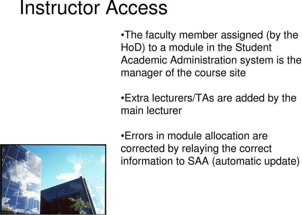 Extra lecturers/tas are added by the main lecturer Errors in module