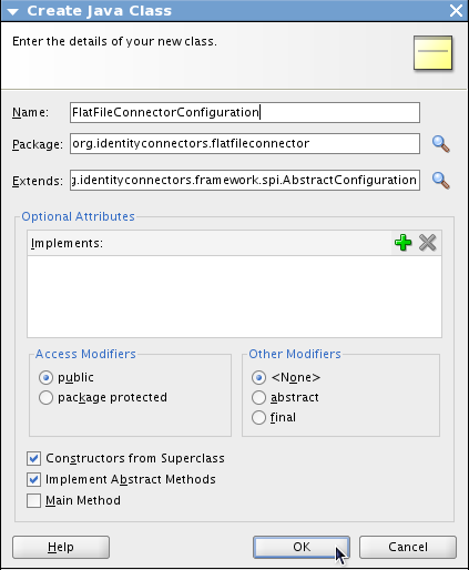 Lab 17: Create an OIM Flat file connector using Identity Connector