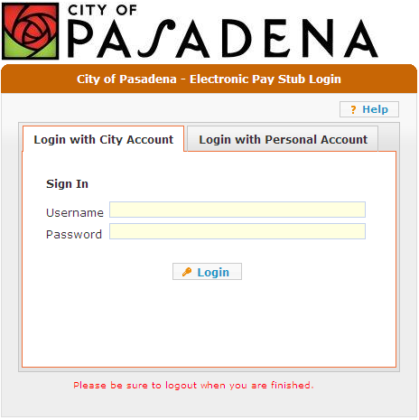 City of Pasadena Electronic Pay Stub (epaystub) - PDF