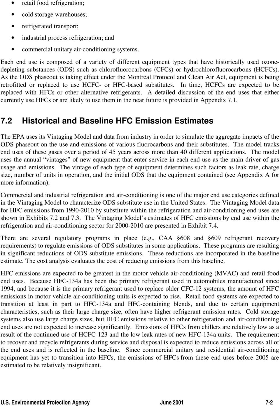 7  COST AND EMISSION REDUCTION ANALYSIS OF HFC EMISSIONS FROM