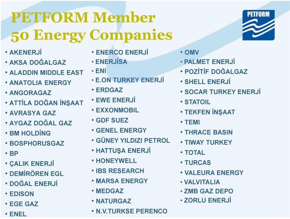 Turkish Petroleum Law ) Member companies mainly have