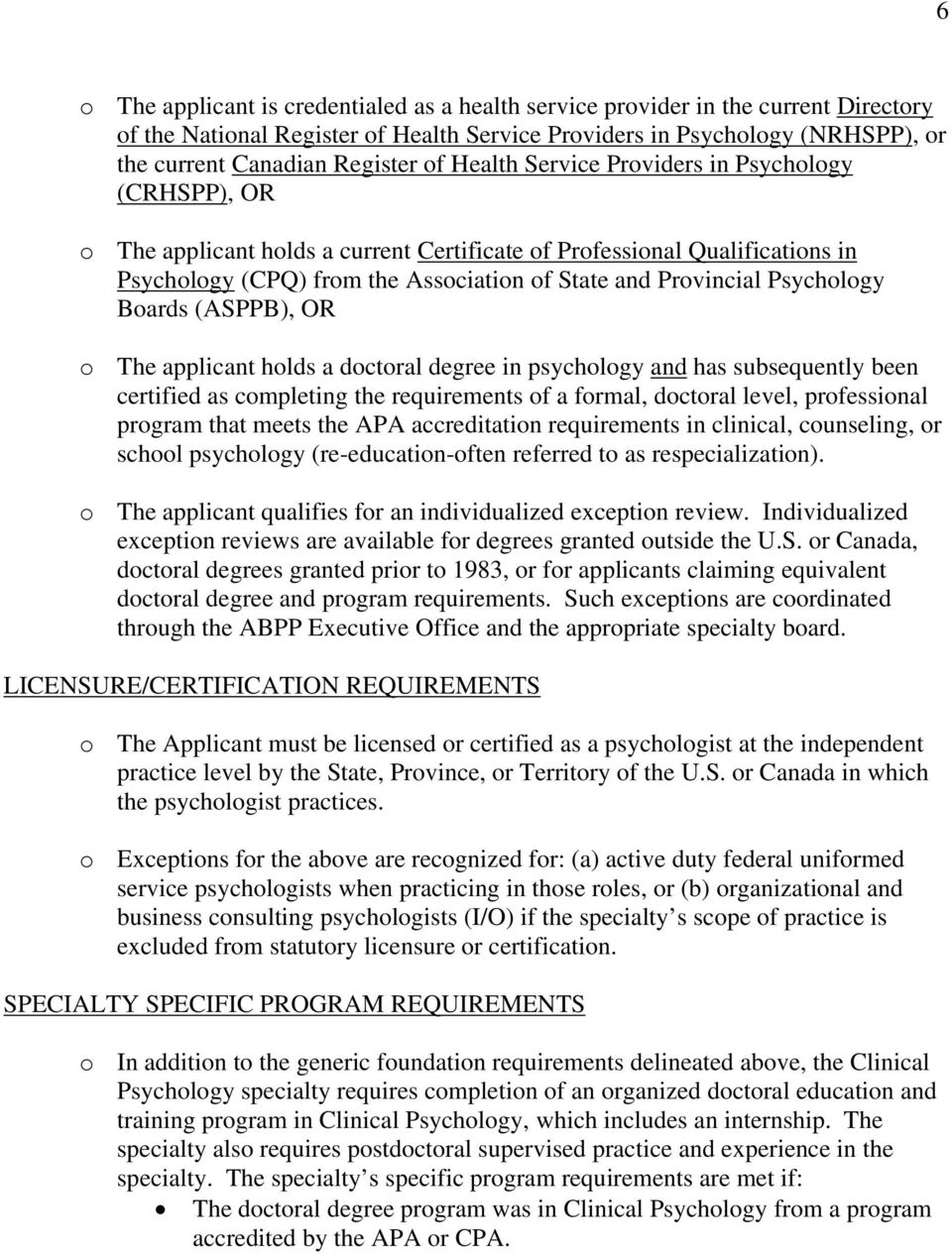American Board Of Clinical Psychology Pdf