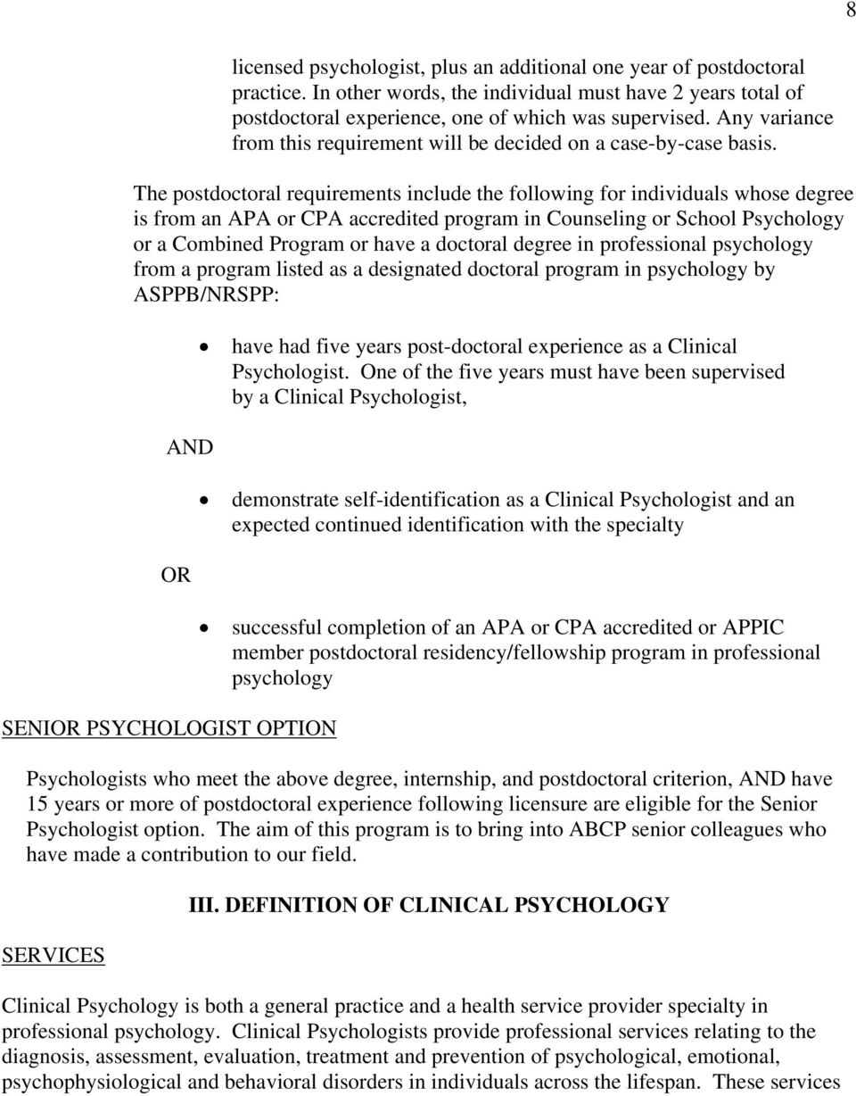 american board of clinical psychology - pdf