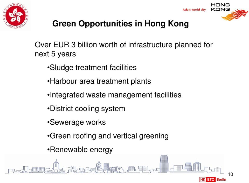Harbour area treatment plants Integrated waste management facilities