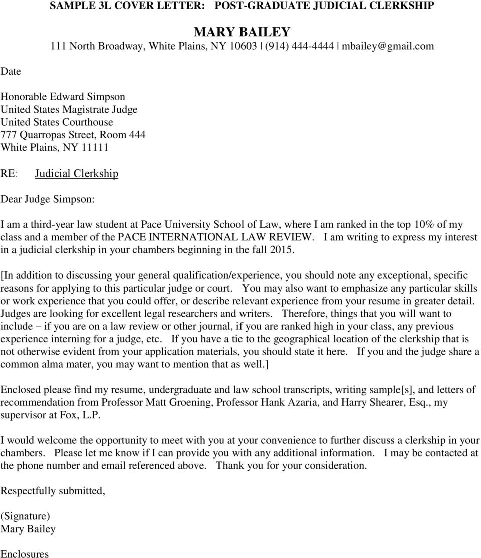 Sample Cover Letters Other Correspondence Pdf