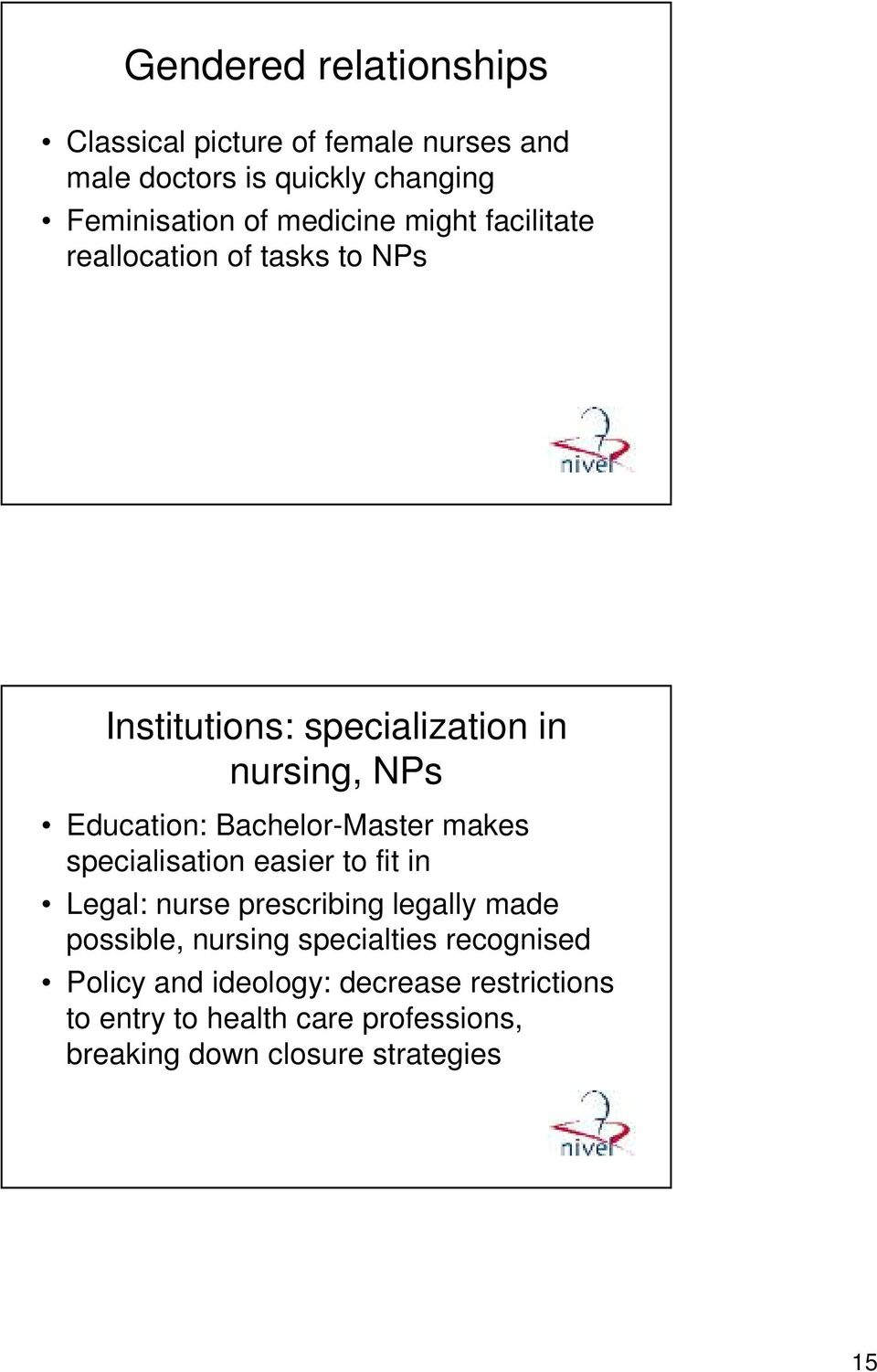 Bachelor-Master makes specialisation easier to fit in Legal: nurse prescribing legally made possible, nursing