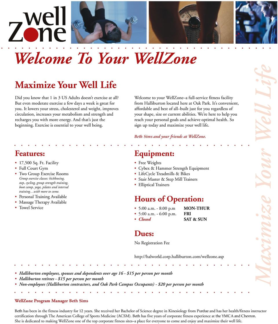 Welcome To Your Wellzone Pdf