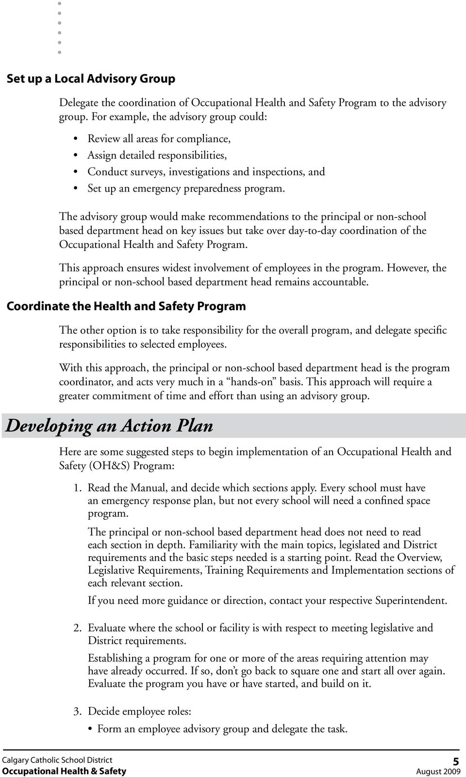 Implementing Occupational Health & Safety in Schools and