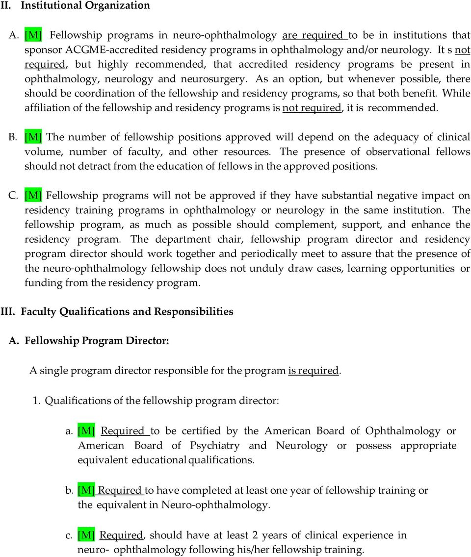 Program Requirements for Fellowship Education in Neuro