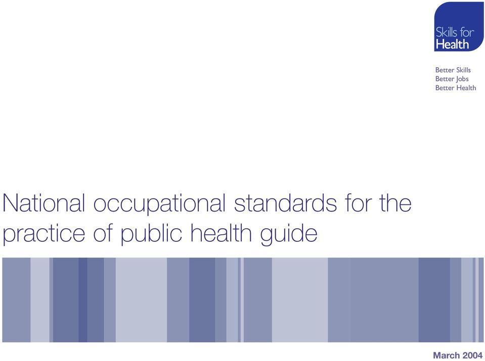 occupational standards for the