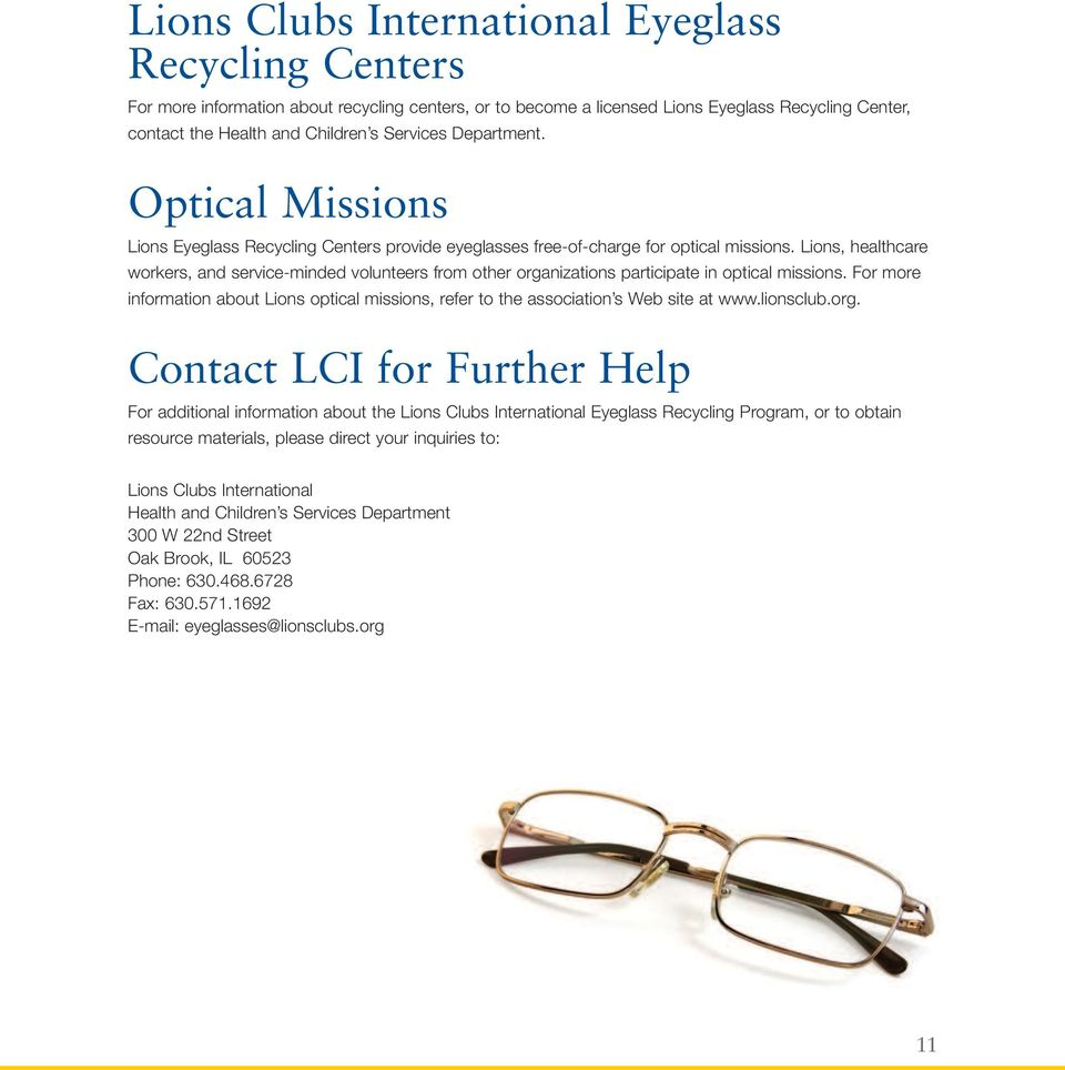 4b1a8afd79 A CLUB GUIDE FOR COLLECTING USED EYEGLASSES - PDF