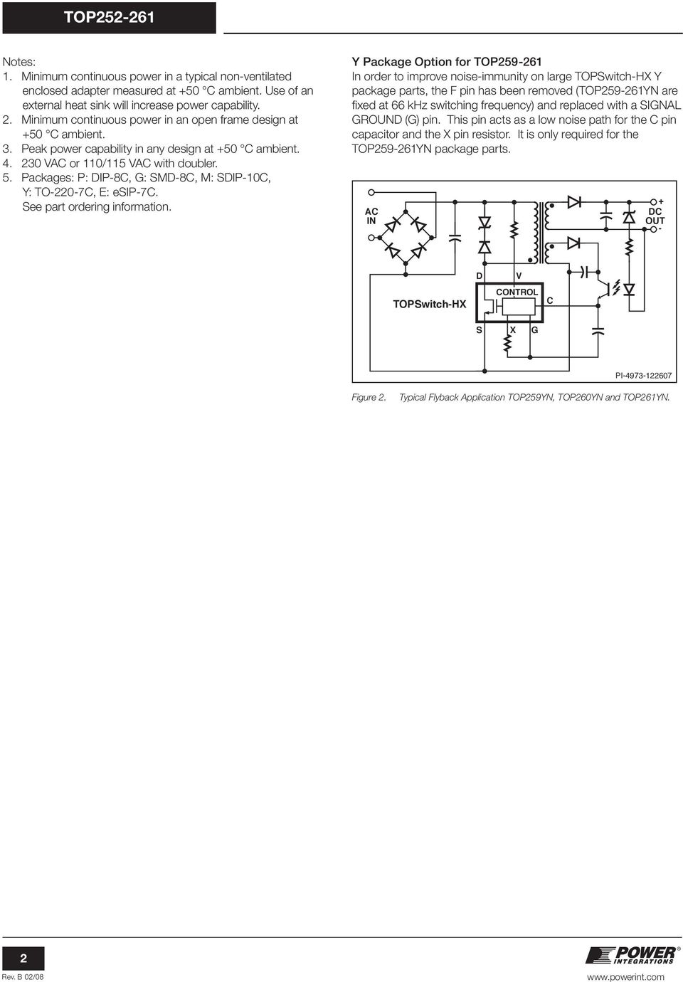 1pc TOP257PN DIP-7 Integrated Off-Line Switcher with Advanced Feature Set