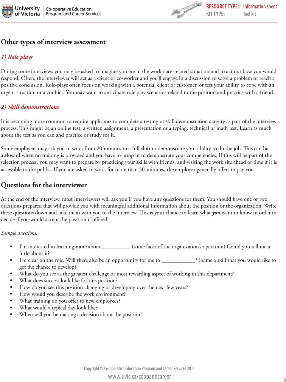 HOW TO RESPOND TO INTERVIEW QUESTIONS - PDF