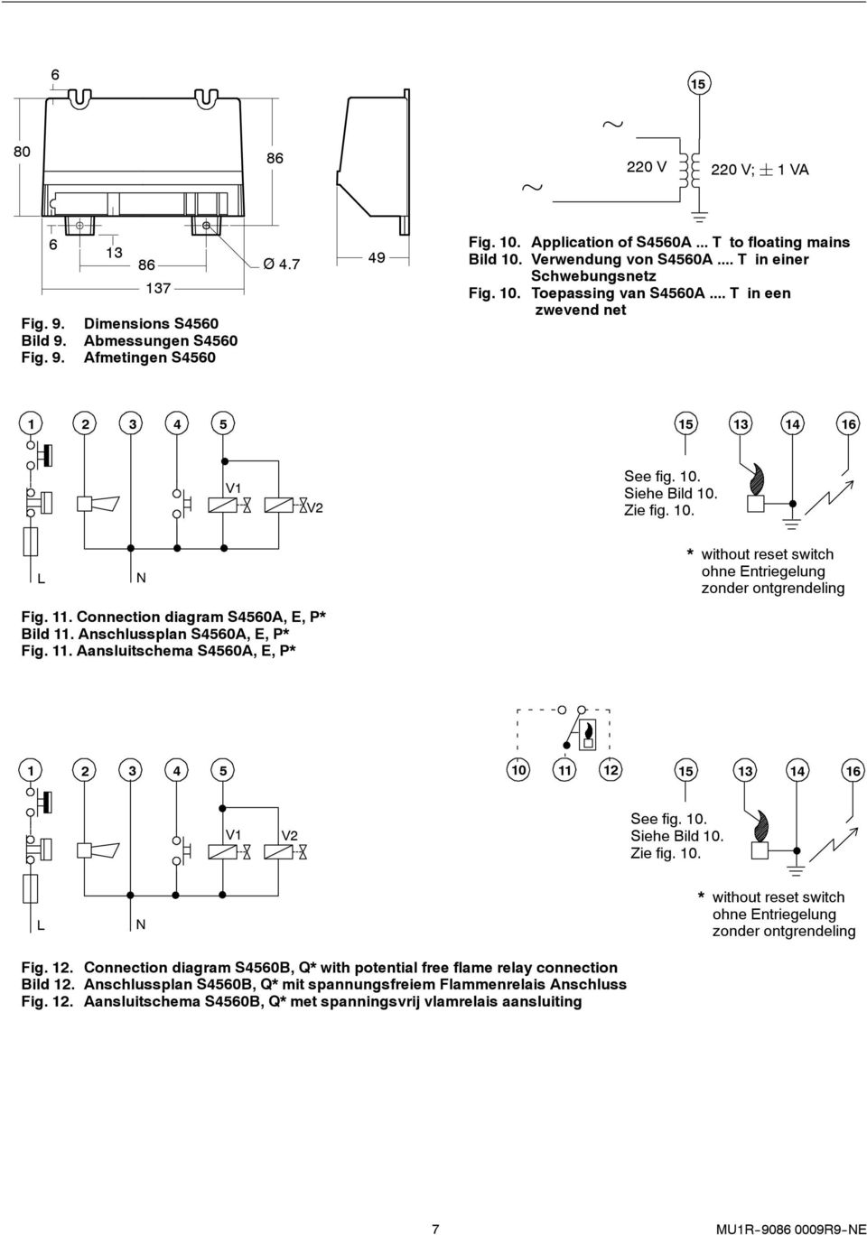 S4560 Automatic Ignition Control Application Specifications Pdf Mm 2 58t Wiring Diagram For Thermostat Connection S4560a E Bild 11 Anschlussplan