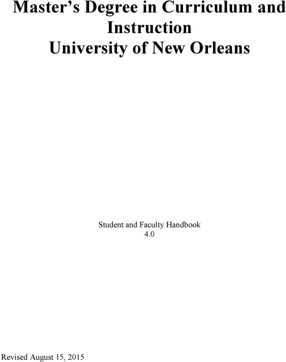 New Orleans Student and Faculty
