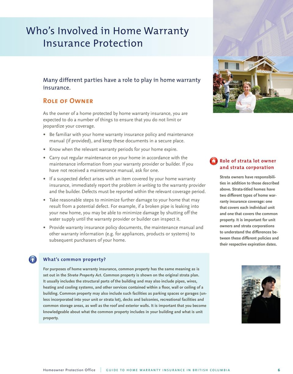Guide To Home Warranty Insurance In British Columbia Pdf