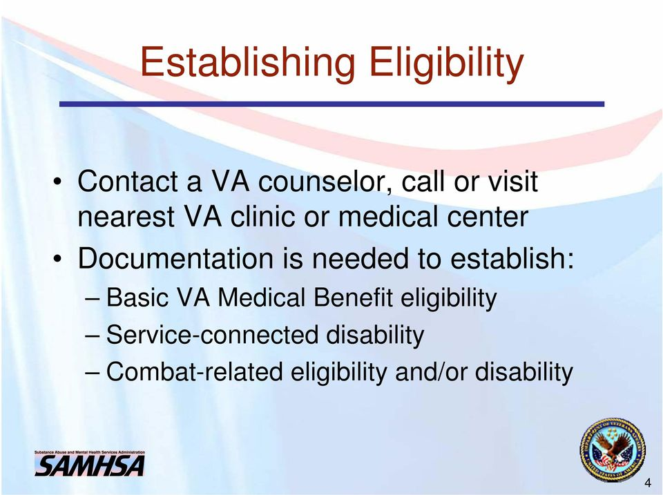 VA Medical Benefits and Eligibility for Combat Veterans