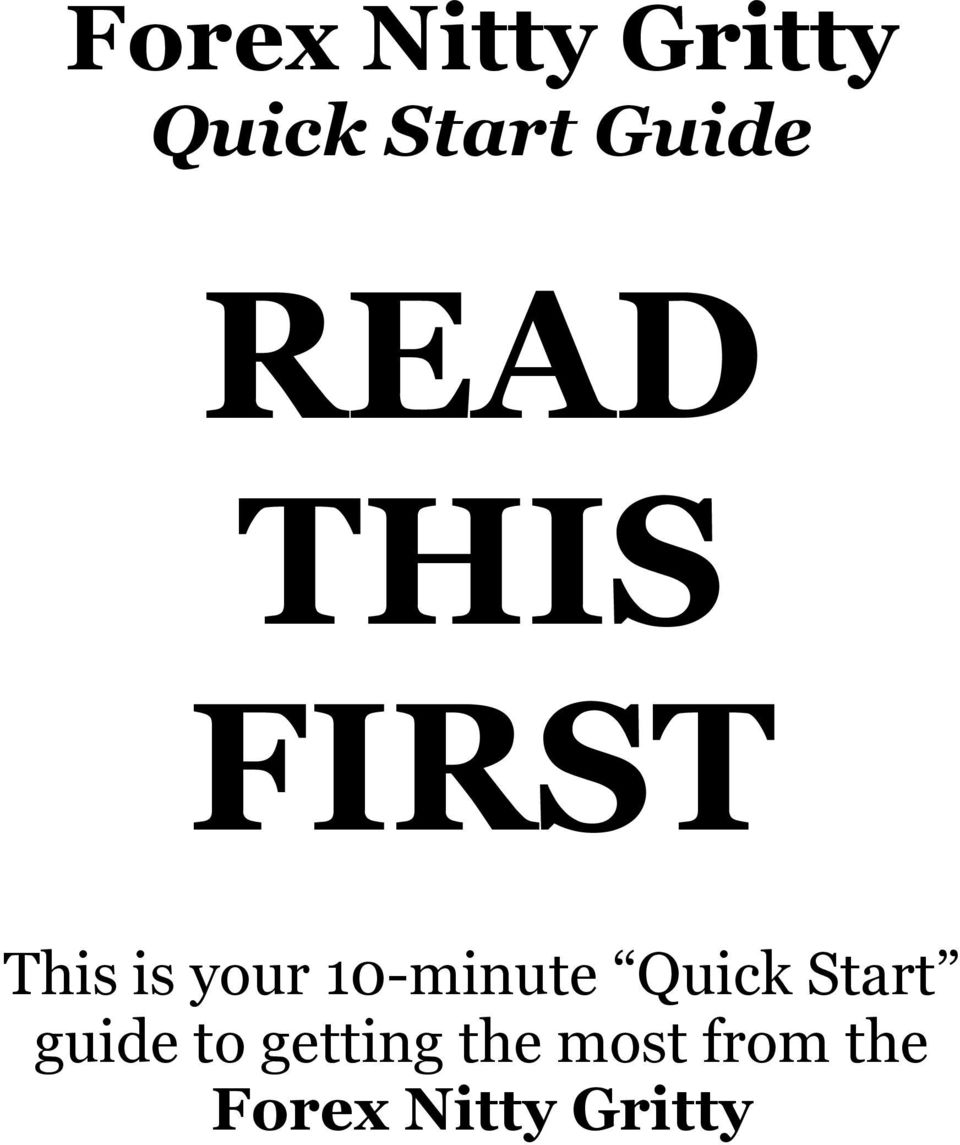 10-minute Quick Start guide to