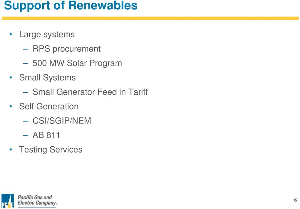 Systems Small Generator Feed in Tariff