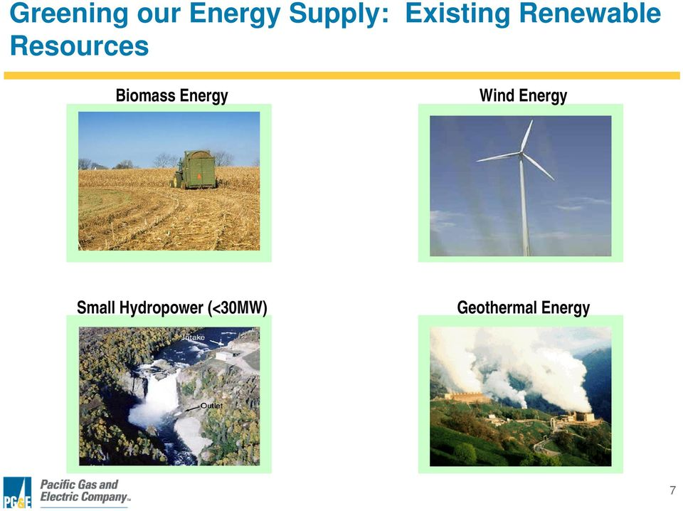 Biomass Energy Wind Energy