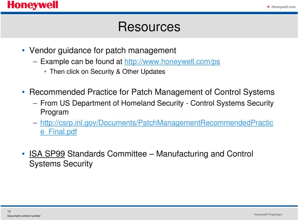 Systems From US Department of Homeland Security - Control Systems Security Program http://csrp.inl.