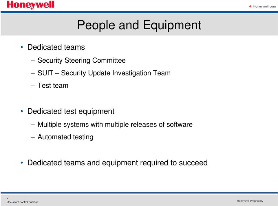 equipment Multiple systems with multiple releases of software