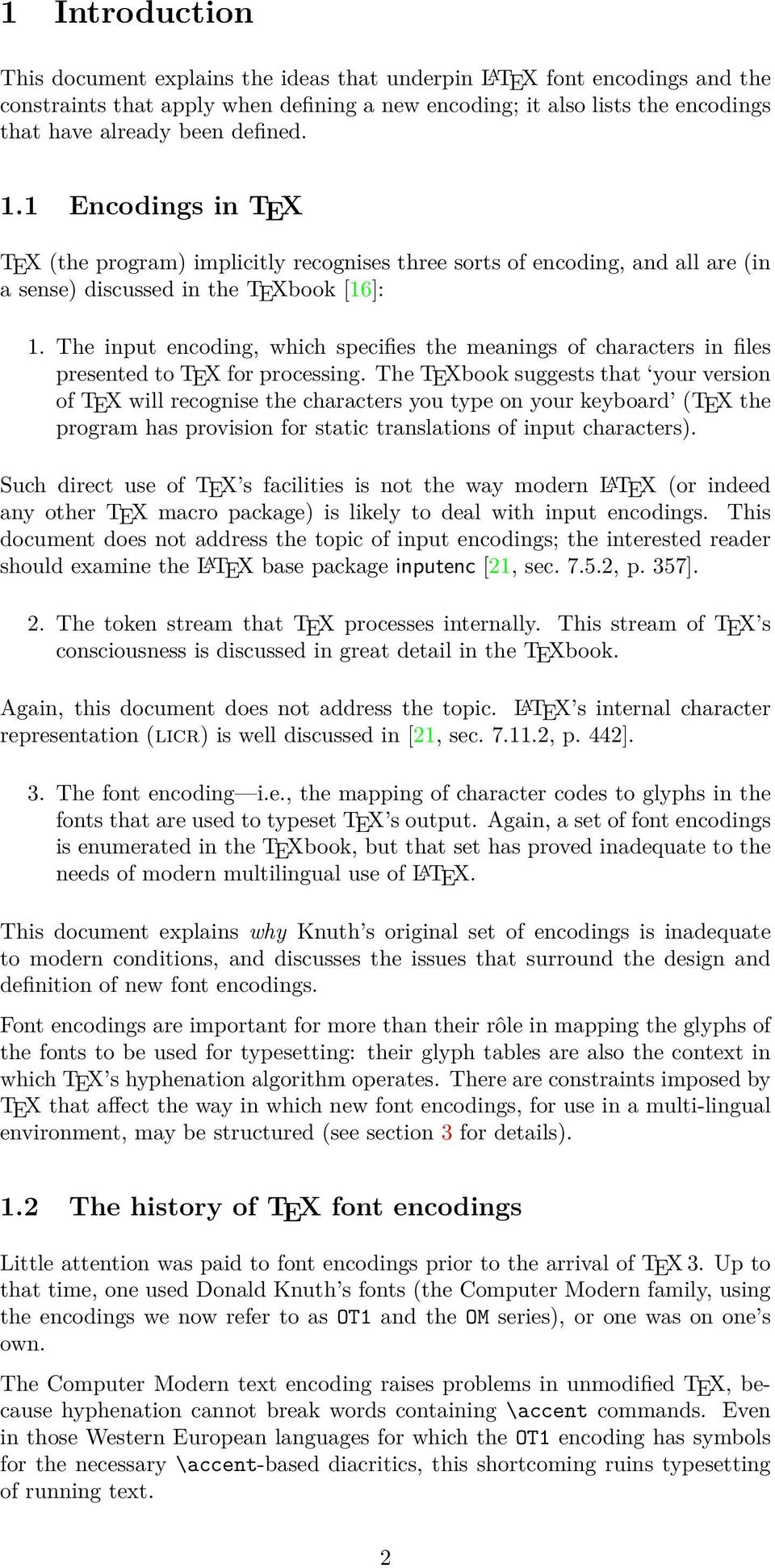 L A TEX font encodings - PDF