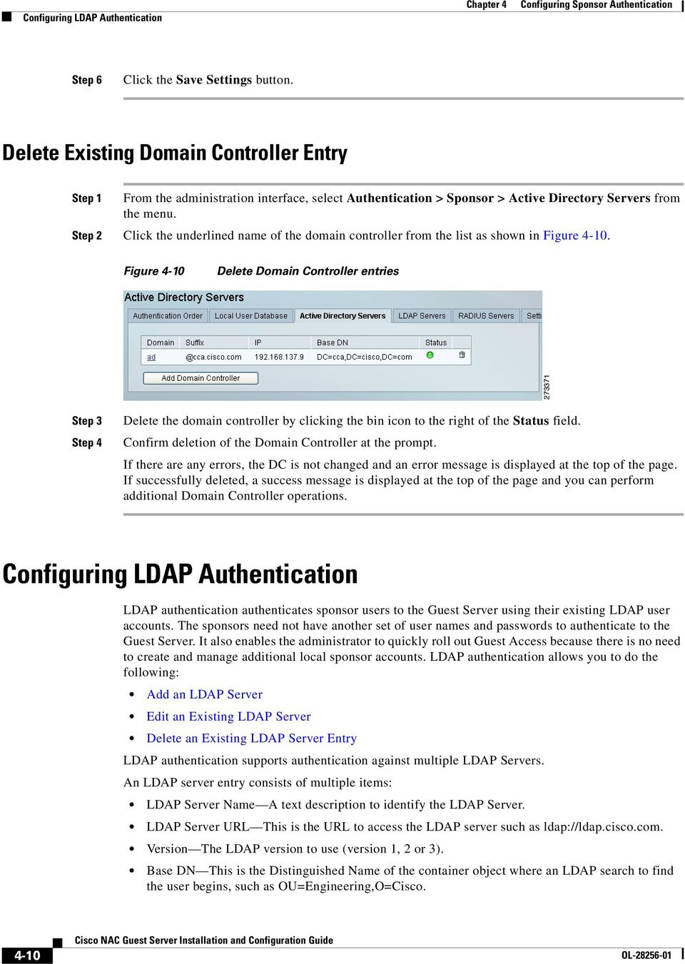 Step 2 Click the underlined name of the domain controller from the list as shown in Figure 4-10.