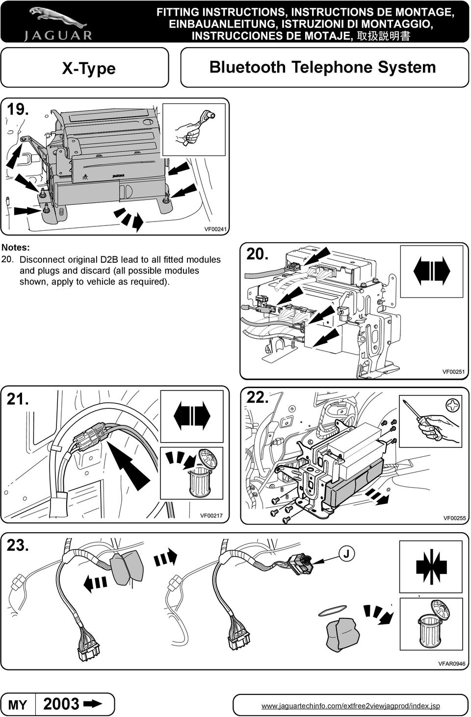 X Type Bluetooth Telephone System Information Pdf 2005 Jaguar Fuse Box Fitted Modules 20
