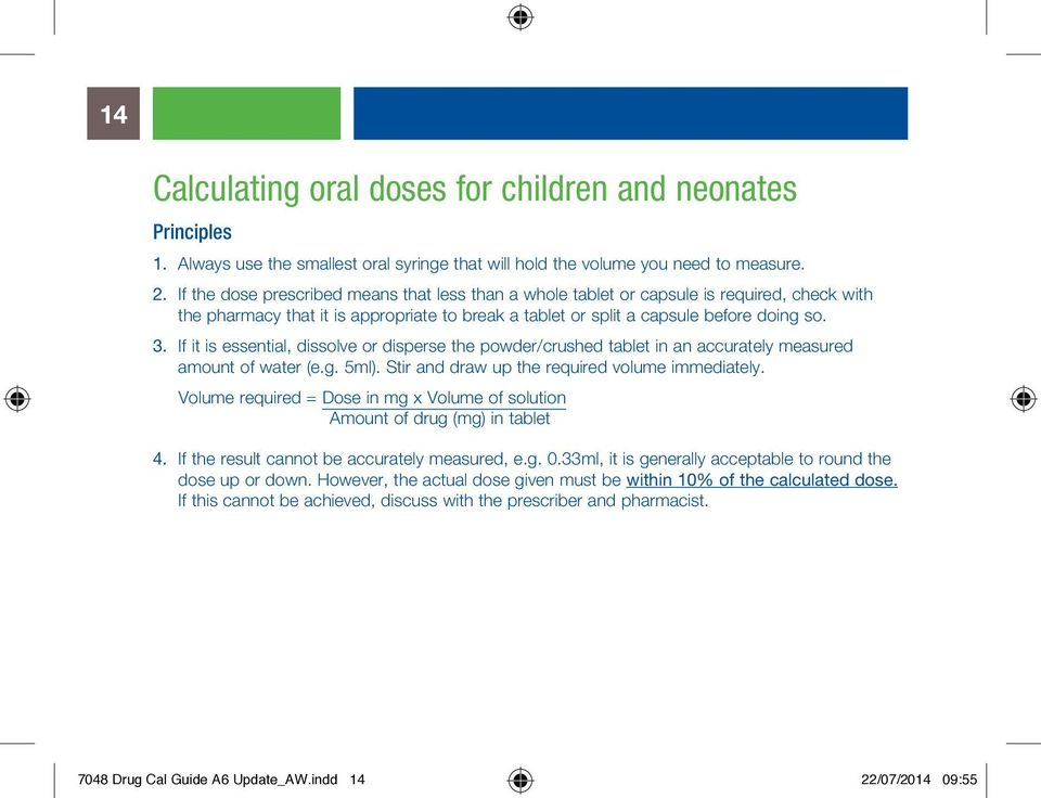 Good practice for drug calculations - PDF