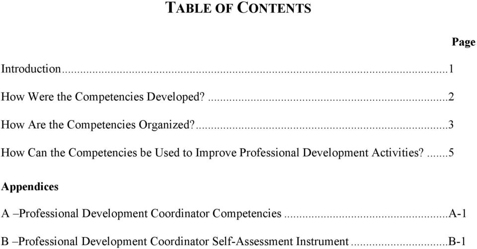 ...3 How Can the Competencies be Used to Improve Professional Development Activities?
