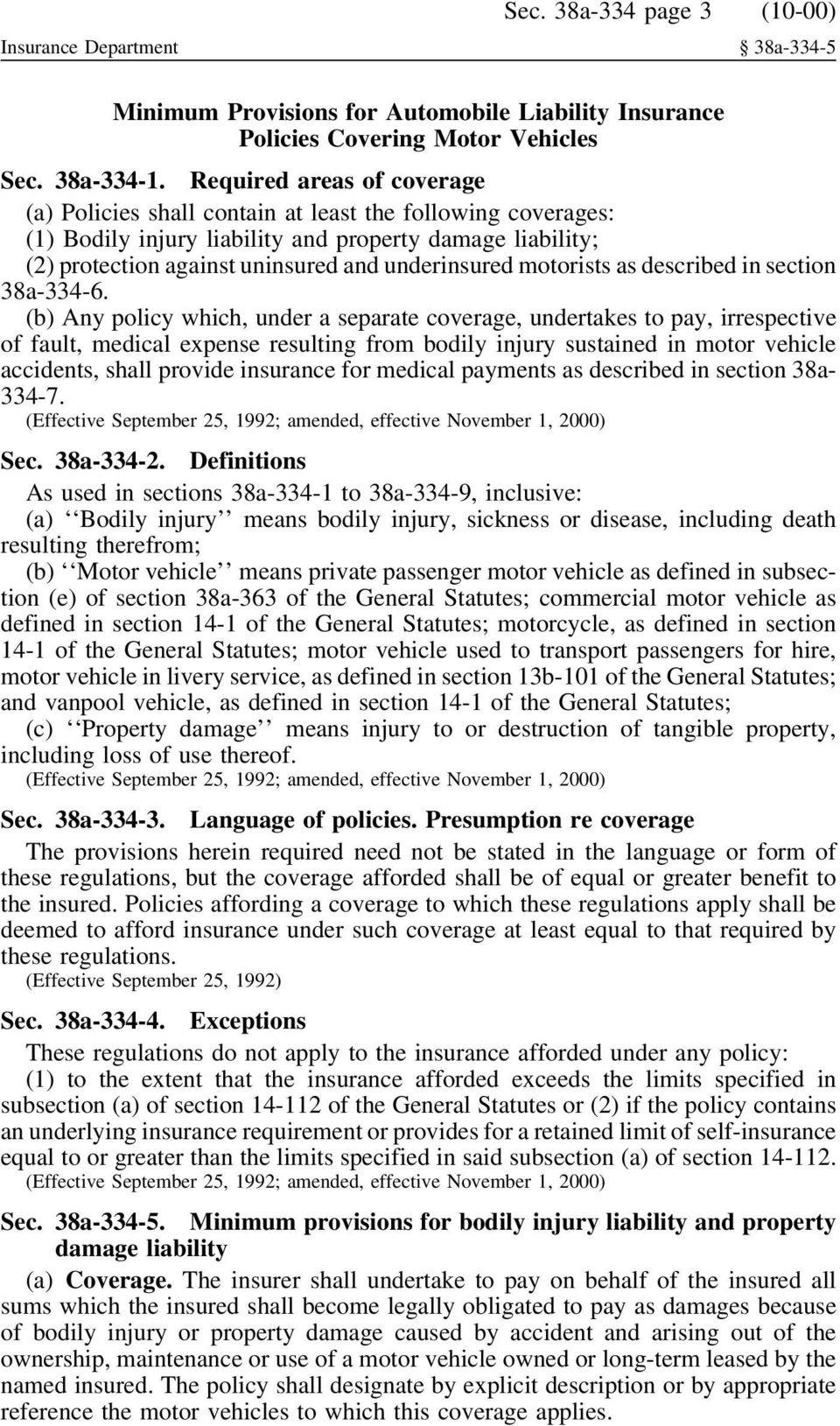 motorists as described in section 38a-334-6.