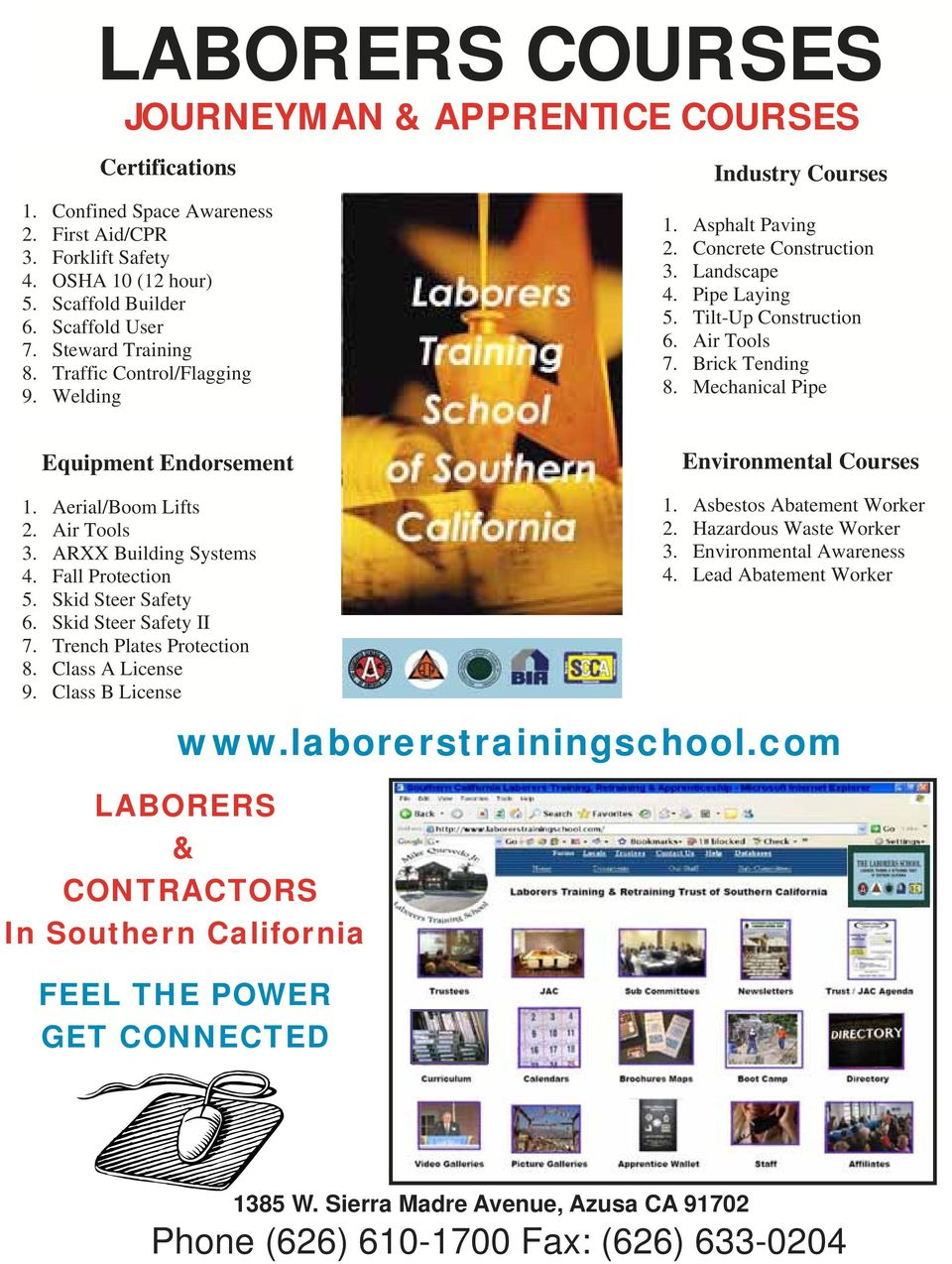 SOUTHERN CALIFORNIA LABORERS TRAINING NEWS LABORERS OCTOBER