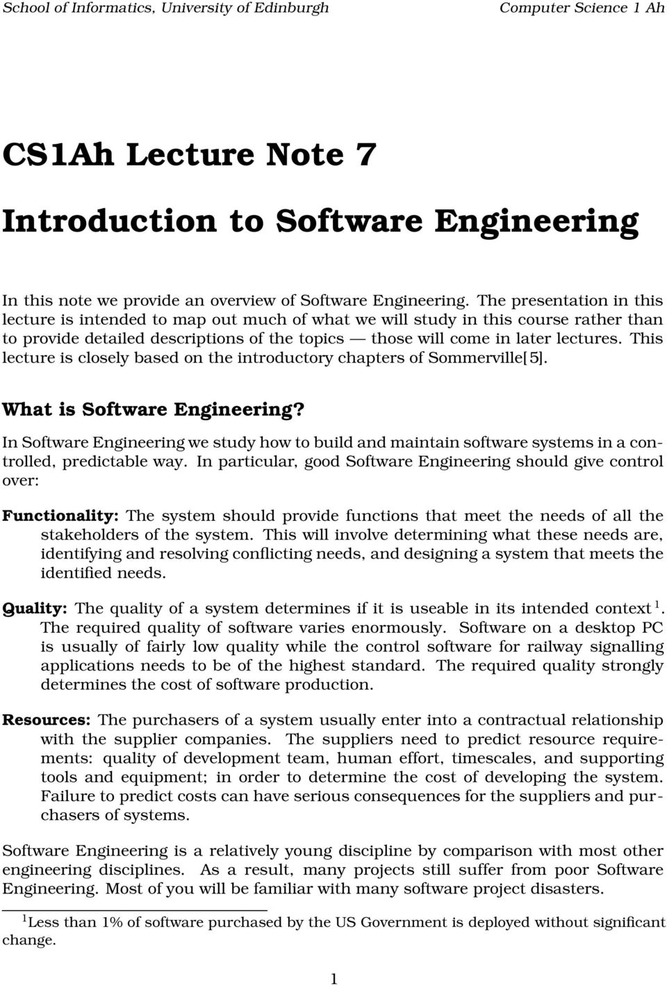 Introduction to Software Engineering - PDF