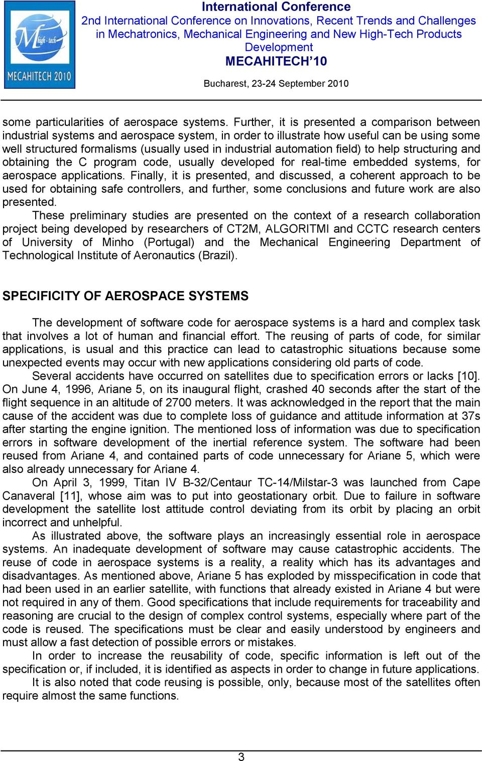 automation field) to help structuring and obtaining the C program code, usually developed for real-time embedded systems, for aerospace applications.